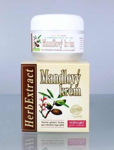 Vivaco Herb Extrakt Mandlový noční krém 50 ml | Péče o pleť a tělo Vivaco - Pleťové krémy