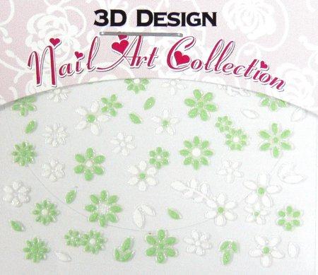 Zdobící nálepky na nehty 3D mini 24904 | Zdobící nálepky a obtisky na nehty - Zdobící nálepky na nehty 3D mini - samolepící