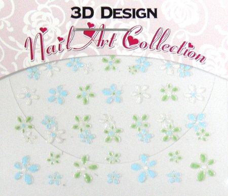 Zdobící nálepky na nehty 3D mini 24905 | Zdobící nálepky a obtisky na nehty - Zdobící nálepky na nehty 3D mini - samolepící