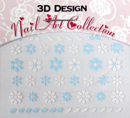 Zdobící nálepky na nehty 3D mini 24907 | Zdobící nálepky a obtisky na nehty - Zdobící nálepky na nehty 3D mini - samolepící