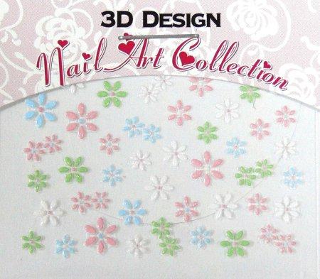 Zdobící nálepky na nehty 3D mini 24909 | Zdobící nálepky a obtisky na nehty - Zdobící nálepky na nehty 3D mini - samolepící