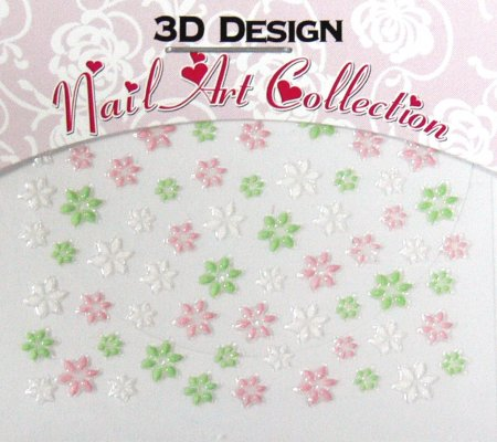 Zdobící nálepky na nehty 3D mini 24914 | Zdobící nálepky a obtisky na nehty - Zdobící nálepky na nehty 3D mini - samolepící