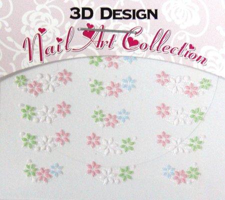 Zdobící nálepky na nehty 3D mini 24915 | Zdobící nálepky a obtisky na nehty - Zdobící nálepky na nehty 3D mini - samolepící
