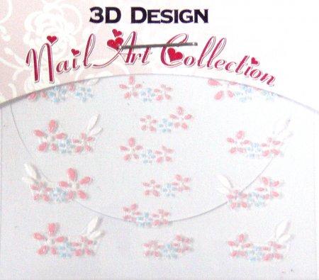 Zdobící nálepky na nehty 3D mini 24916 | Zdobící nálepky a obtisky na nehty - Zdobící nálepky na nehty 3D mini - samolepící