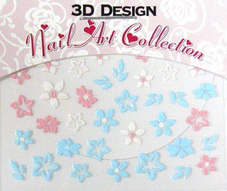 Zdobící nálepky na nehty 3D mini 24917 | Zdobící nálepky a obtisky na nehty - Zdobící nálepky na nehty 3D mini - samolepící