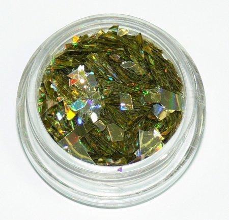 Holografické střípky 505 na zdobení nehtů | NEHTOVÁ MODELÁŽ - Nail Art, zdobící materiály - Holografické střípky na zdobení nehtů