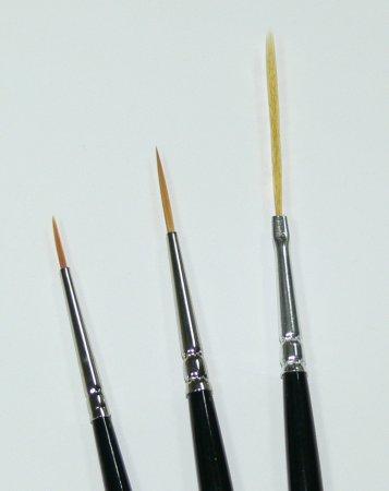 Zdobící štětce sada - 3ks | NEHTOVÁ MODELÁŽ - Štětce pro nehtovou modeláž a zdobení - Štětce na zdobení nehtů a Nail Art