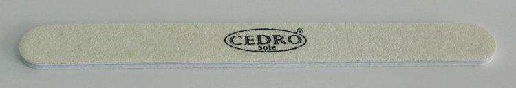 Pilník na nehty 80/80 bílý Cedro | Leštičky, leštící bloky a pilníky na nehty pro nehtovou modeláž a manikúru - Pilníky na nehty pro nehtovou modeláž a manikúru - rovné