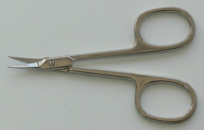 Nůžky na kůži M 421 zahnuté úzké Manart Solingen 9 cm | Kleště a nůžky na nehty a kůži pro manikúru a pedikúru, pinzety, pilníky, atd. - Nůžky na nehty a kůži pro manikúru a pedikúru