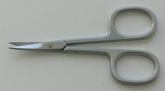 Nůžky na kůži PL 420C matné zahnuté Premium Line Solingen 9 cm | Kleště a nůžky na nehty a kůži pro manikúru a pedikúru, pinzety, pilníky, atd. - Nůžky na nehty a kůži pro manikúru a pedikúru