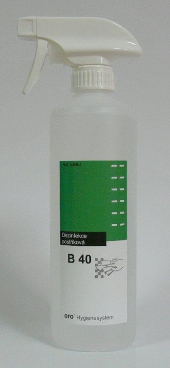 Dezinfekce postřiková na plochy a nástroje B40 s rozprašovačem 0,5 litru | NEHTOVÁ MODELÁŽ - Dezinfekce a hygiena - Dezinfekce na nástroje a plochy
