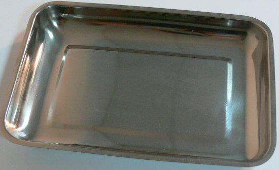 Miska na nástroje, tácek, nerez 27x19x3 cm | Nerezové výrobky pro pedikúru