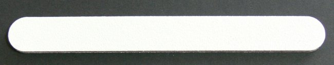 Pilník na nehty 100/100 bílý | Leštičky, leštící bloky a pilníky na nehty pro nehtovou modeláž a manikúru - Pilníky na nehty pro nehtovou modeláž a manikúru - rovné