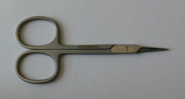 Nůžky na kůži záděrkovou rovné 9 cm Lux | Kleště a nůžky na nehty a kůži pro manikúru a pedikúru, pinzety, pilníky, atd. - Nůžky na nehty a kůži pro manikúru a pedikúru