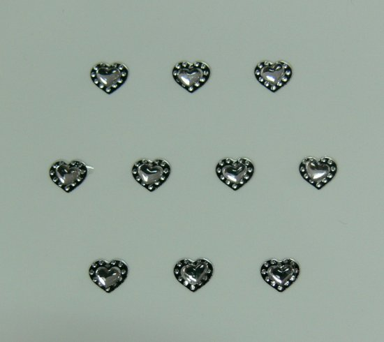 Samolepící nálepky na nehty 24072 - černé s kamínkem | Zdobící nálepky a obtisky na nehty - Zdobící nálepky na nehty 3D s kamínky, černé - samolepící