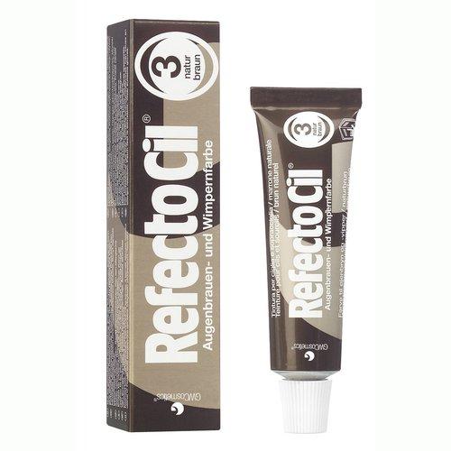 RefectoCil Barva na řasy a obočí přírodní hnědá - 15 ml | Barvy na řasy a na obočí