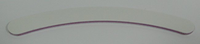 Pilník na nehty 100/100 bílý zahnutý | Leštičky, leštící bloky a pilníky na nehty pro nehtovou modeláž a manikúru - Pilníky na nehty pro nehtovou modeláž a manikúru - zahnuté a rovné široké