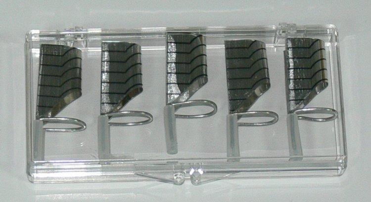 Forma na nehty teflonová 5 ks               | NEHTOVÁ MODELÁŽ - Nehtové tipy pro nehtovou modeláž - Příslušenství k tipům