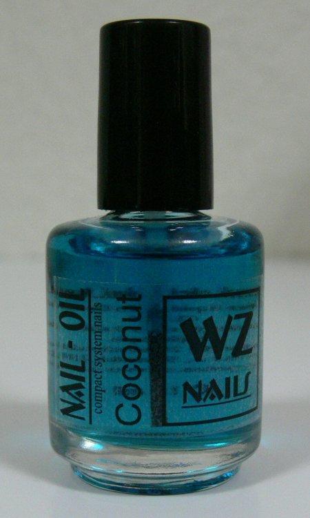 Nehtový olej s vůní kokosu Nail Oil Coconut 15 ml  | NEHTOVÁ MODELÁŽ - Přípravky k péči o nehty a k manikúře - Nehtové oleje k péči o nehty a k manikúře WZ nails