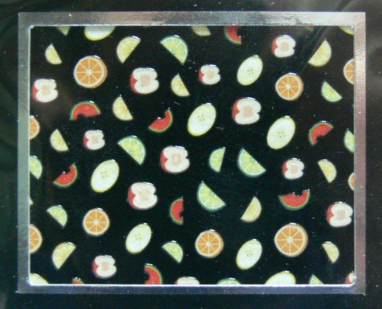Samolepící 3D nálepky na nehty ovoce - melouny | Zdobící nálepky a obtisky na nehty - Zdobící nálepky na nehty 3D samolepící - různé