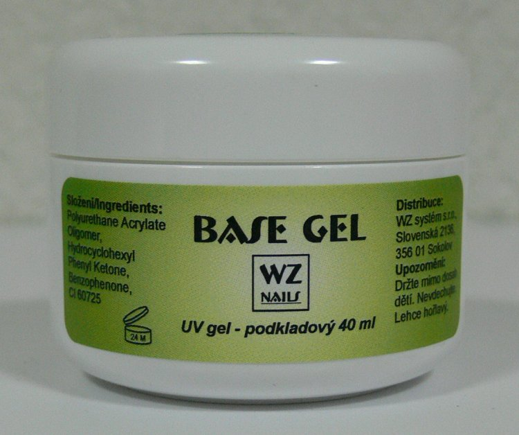UV gel podkladový Base gel 40 ml | NEHTOVÁ MODELÁŽ - UV gely  - UV gely WZ NAILS