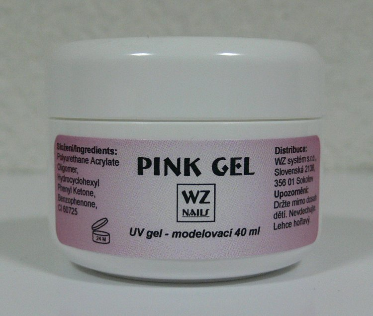 Pink gel - UV gel modelovací 40 ml | UV gely - UV gely WZ NAILS