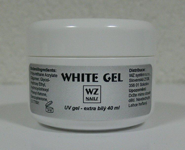 UV gel na francouzskou manikúru White extra gel 40 ml | UV gely - UV gely WZ NAILS