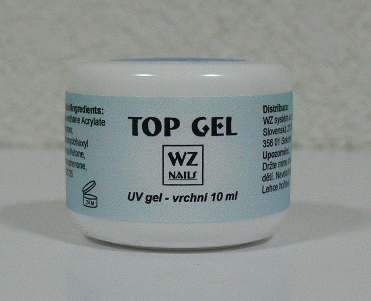 UV gel vrchní Top gel  10 ml | NEHTOVÁ MODELÁŽ - UV gely  - UV gely WZ NAILS