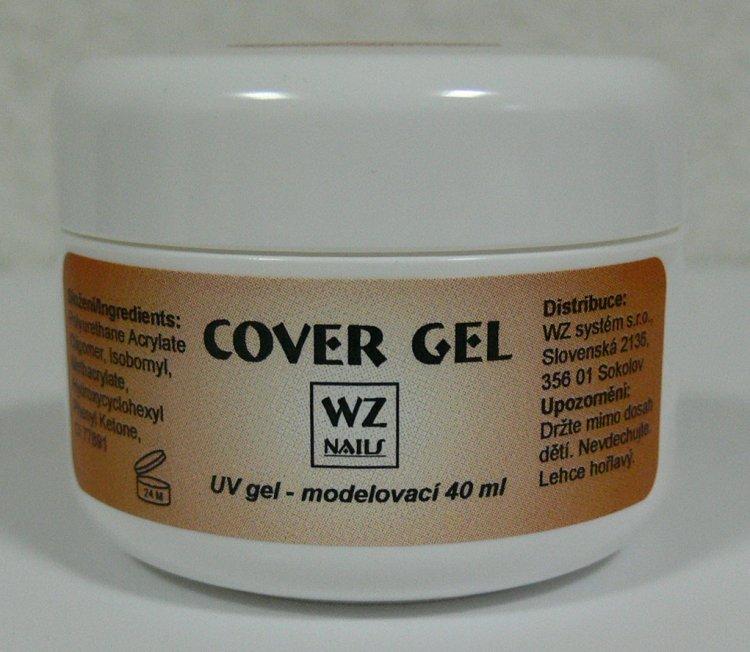 UV gel modelovací kamufláž Cover gel 40 ml | NEHTOVÁ MODELÁŽ - UV gely  - UV gely WZ NAILS