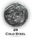 UV gel barevný perleťový Cold Steel  5 ml | NEHTOVÁ MODELÁŽ - Barevné UV gely - Perleťové barevné UV gely