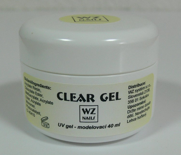 UV gel modelovací čirý Clear gel 40 ml | UV gely - UV gely WZ NAILS