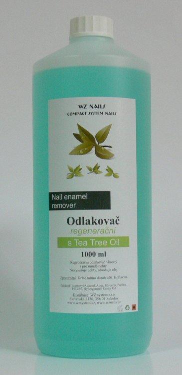 Odlakovač na nehty s Tea Tree Oil 1000 ml  | NEHTOVÁ MODELÁŽ - Odlakovače