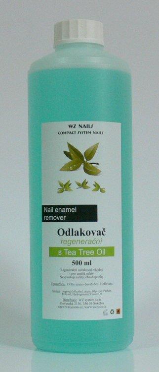 Odlakovač na nehty s Tea Tree Oil 500 ml  | NEHTOVÁ MODELÁŽ - Odlakovače