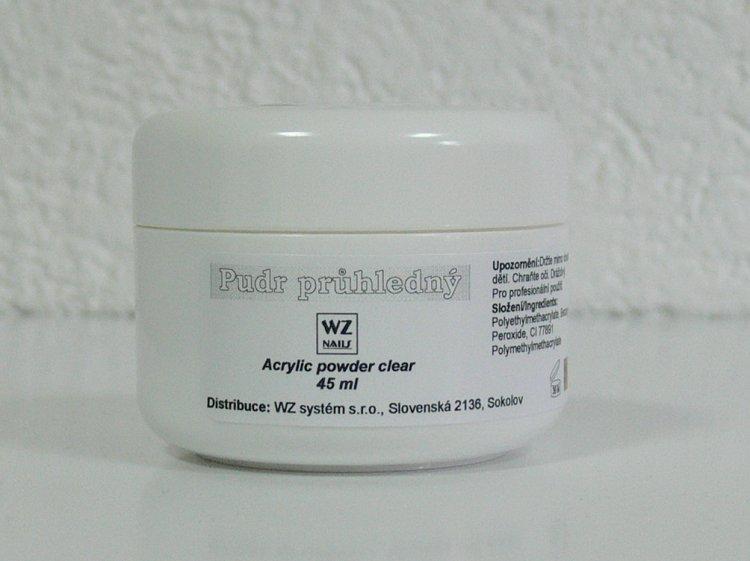 Akrylový pudr průhledný 45 ml | NEHTOVÁ MODELÁŽ - Akryl - Akryl WZ nails