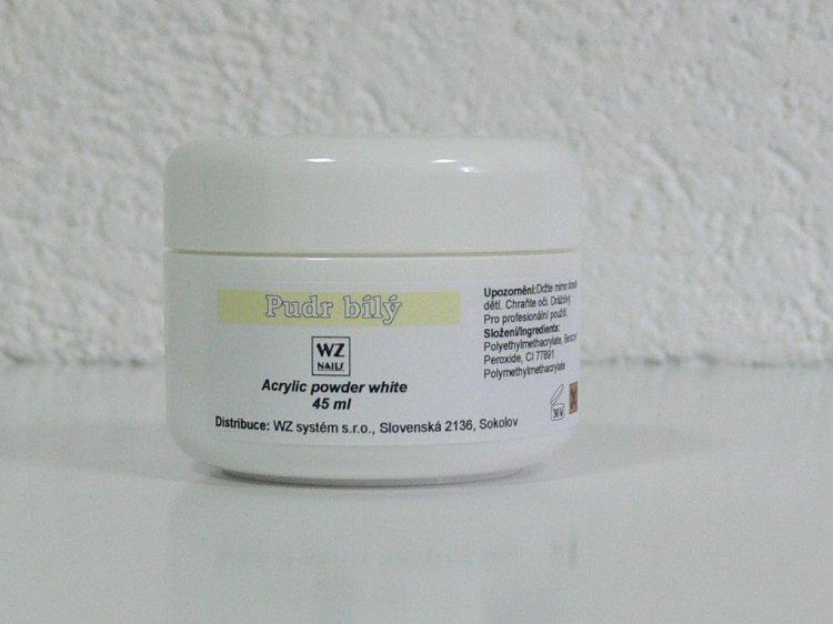 Akrylový pudr bílý 45 ml | NEHTOVÁ MODELÁŽ - Akryl - Akryl WZ nails