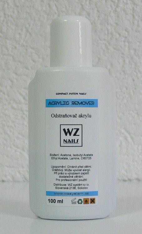 Odstraňovač akrylu 100 ml | NEHTOVÁ MODELÁŽ - Akryl - Akryl WZ nails