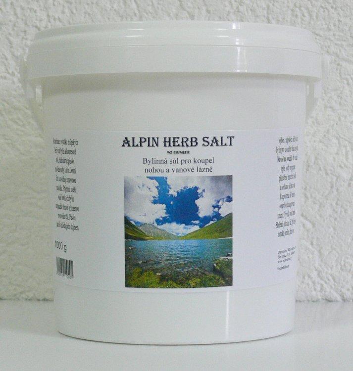 Koupelová sůl na nohy kamenná Alpin Herb Salt 1000 g | Kosmetika WZ cosmetic - Koupelové soli a olejové lázně