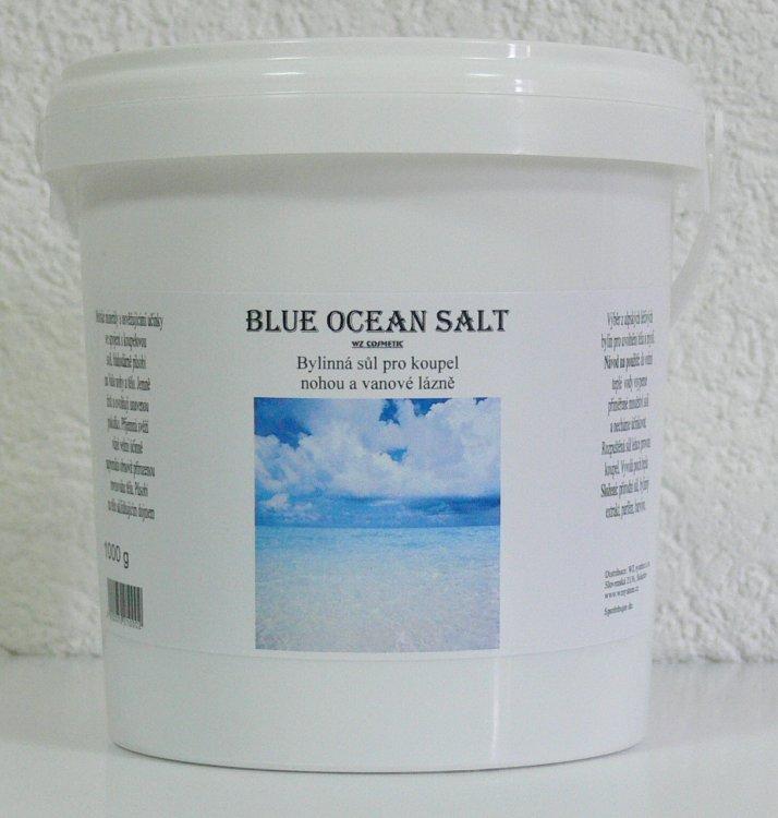 Koupelová sůl na nohy kamenná Blue Ocean Salt 1000 g | NEHTOVÁ MODELÁŽ - Kosmetika WZ cosmetic - Koupelové soli a olejové lázně