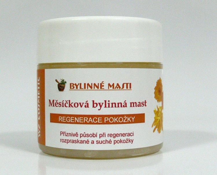 Bylinná mast s měsíčkem lékařským 150 ml | NEHTOVÁ MODELÁŽ - Kosmetika WZ cosmetic - Bylinné masti a vazelíny