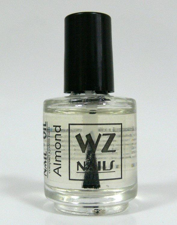 Nehtový olej s vůní mandlí Nail Oil Almond 15 ml  | NEHTOVÁ MODELÁŽ - Přípravky k péči o nehty a k manikúře - Nehtové oleje k péči o nehty a k manikúře WZ nails