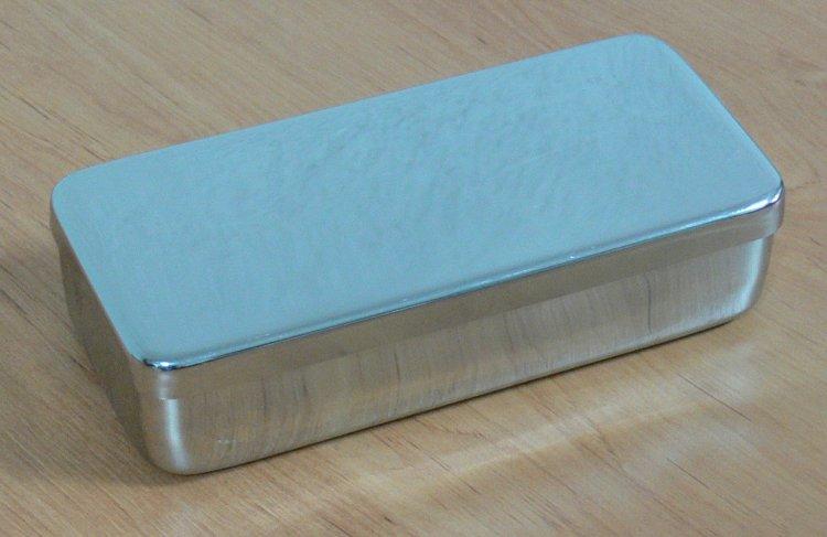 Kazeta s víkem, nerez 25x10x6                         | NEHTOVÁ MODELÁŽ - Nerezové výrobky pro pedikúru