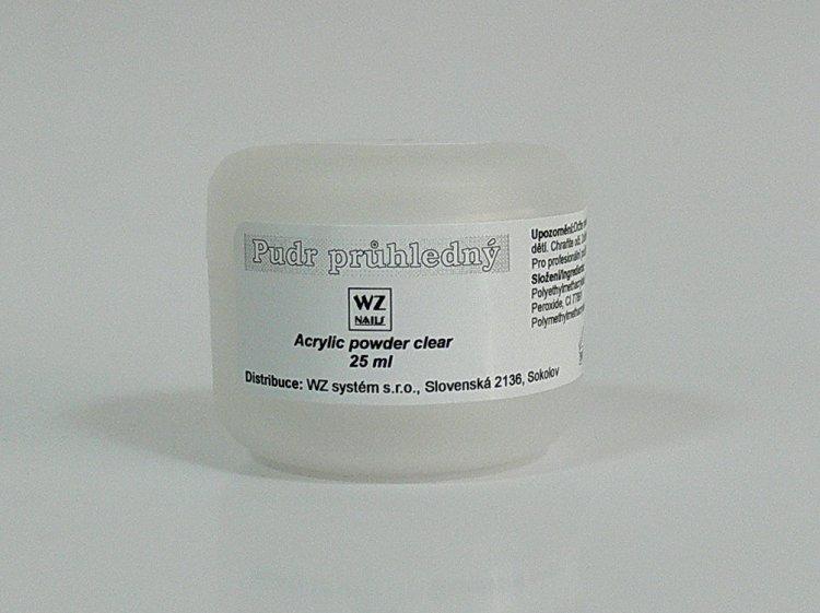 Akrylový pudr průhledný 25 ml | NEHTOVÁ MODELÁŽ - Akryl - Akryl WZ nails