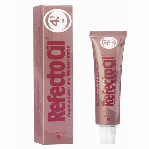 RefectoCil Barva na řasy a obočí červená - 15ml | NEHTOVÁ MODELÁŽ - Barvy na řasy a na obočí