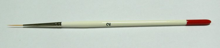 Zdobící štětec č. 2, vlas 1.5 cm              | NEHTOVÁ MODELÁŽ - Štětce pro nehtovou modeláž a zdobení - Štětce na zdobení nehtů a Nail Art