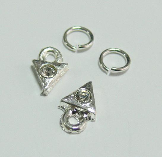 Piercing 590-03 ozdoby na nehty 2 ks  | NEHTOVÁ MODELÁŽ - Zdobící nálepky a obtisky na nehty - Piercing na nehty