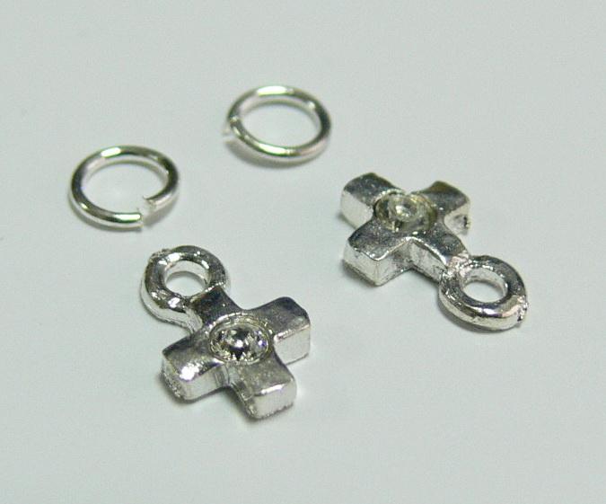 Piercing 590-05 ozdoby na nehty 2 ks  | NEHTOVÁ MODELÁŽ - Zdobící nálepky a obtisky na nehty - Piercing na nehty