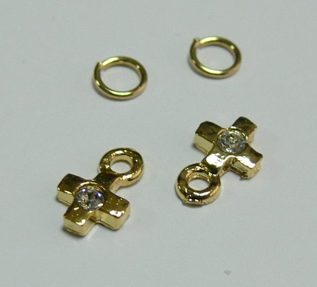Piercing 590-06 ozdoby na nehty 2 ks  | NEHTOVÁ MODELÁŽ - Zdobící nálepky a obtisky na nehty - Piercing na nehty