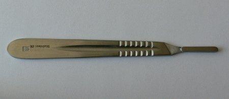 Držátko čepelky číslo 4 | Kleště a nůžky na nehty a kůži pro manikúru a pedikúru, pinzety, pilníky, atd. - Skalpelové čepelky nerezové, držátka čepelek
