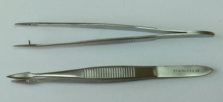 Pinzeta na třísky 11 cm | Kleště a nůžky na nehty a kůži pro manikúru a pedikúru, pinzety, pilníky, atd. - Pinzety, kovové a safírové pilníky na nehty