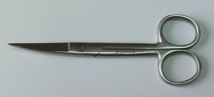 Nůžky chirurgické zahnuté hrotnaté 13 cm | Chirurgické nástroje, pinzety - Nůžky chirurgické, oční, preparační a na obvazy